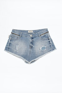 Shorts Paly Denim Destroy