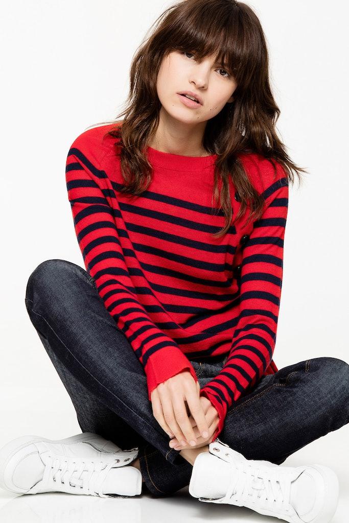 Reglis Stripes Cachemire Sweater