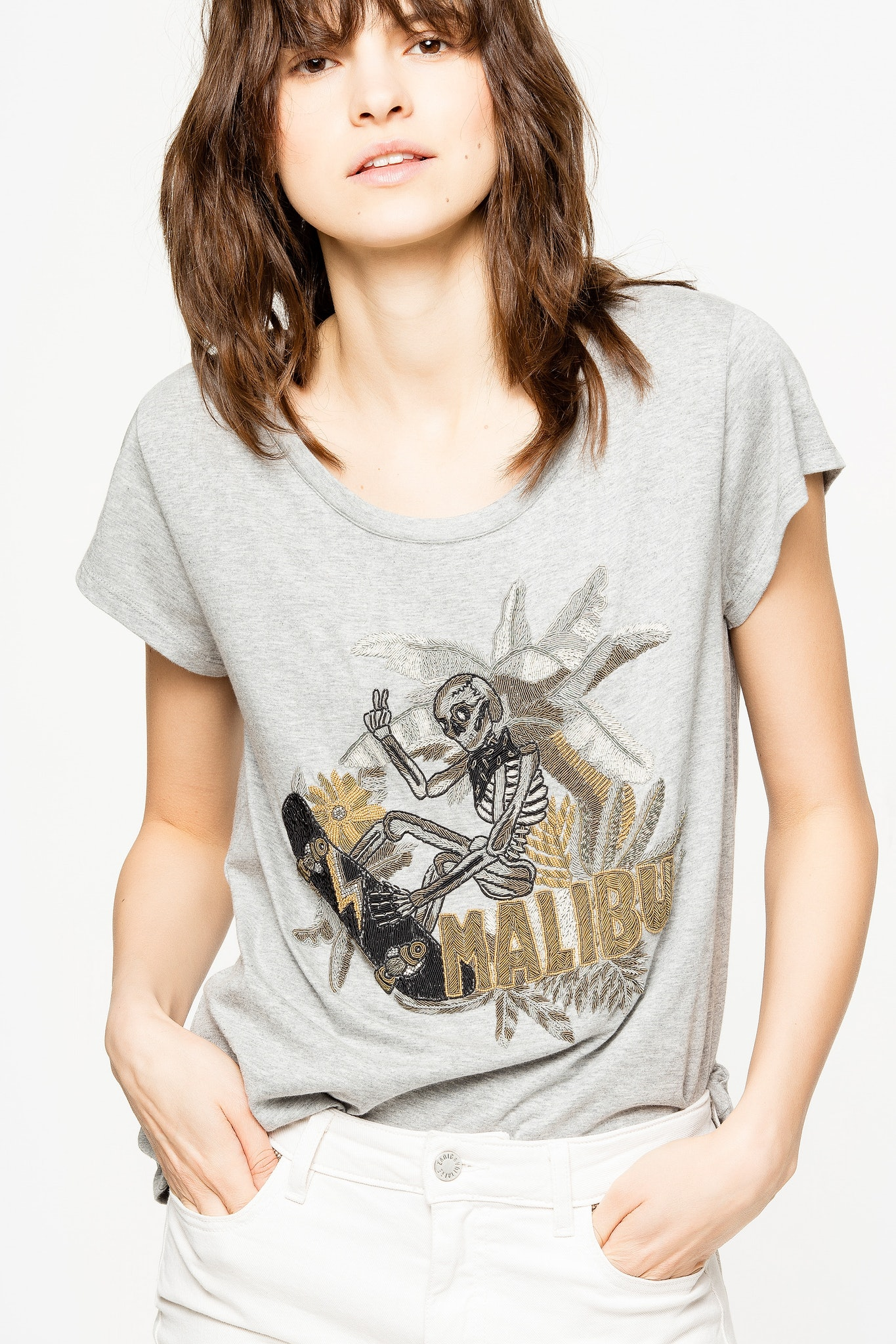 T-Shirt Meryl Canetille Skeleton
