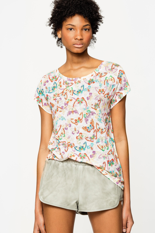 Meryl Lin All Over Butterfly T-Shirt