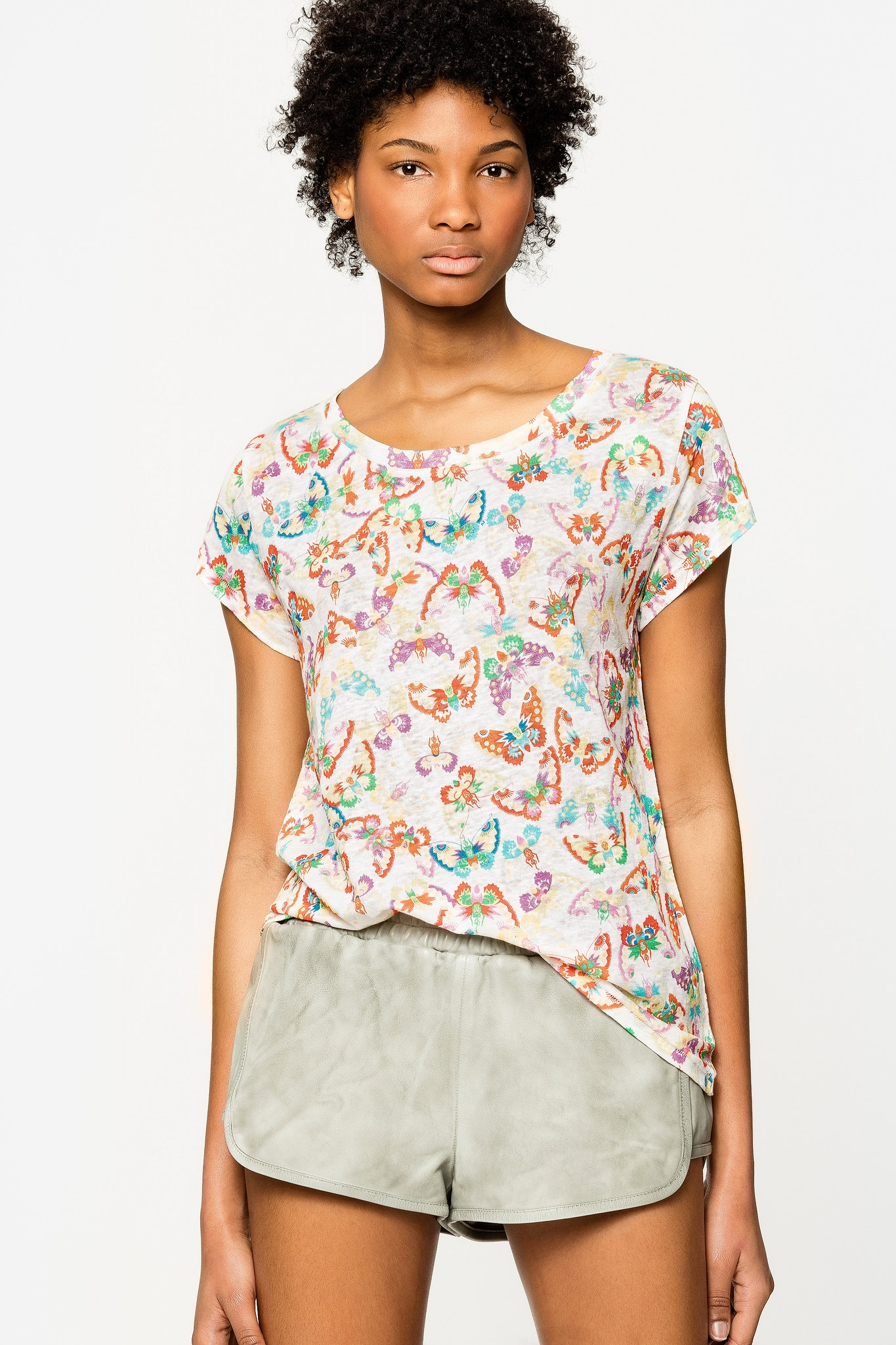 Meryl Lin All Over Butterfly T-Shirt