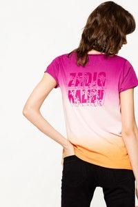 Camiseta Cuello Panadero Dégradé