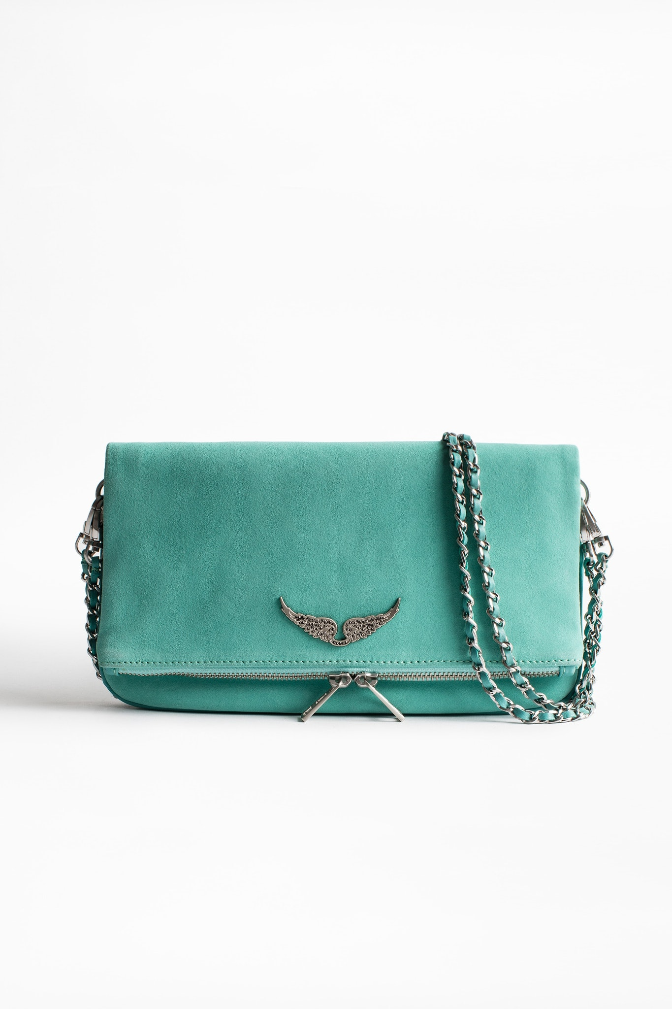 Rock Suede clutch bag
