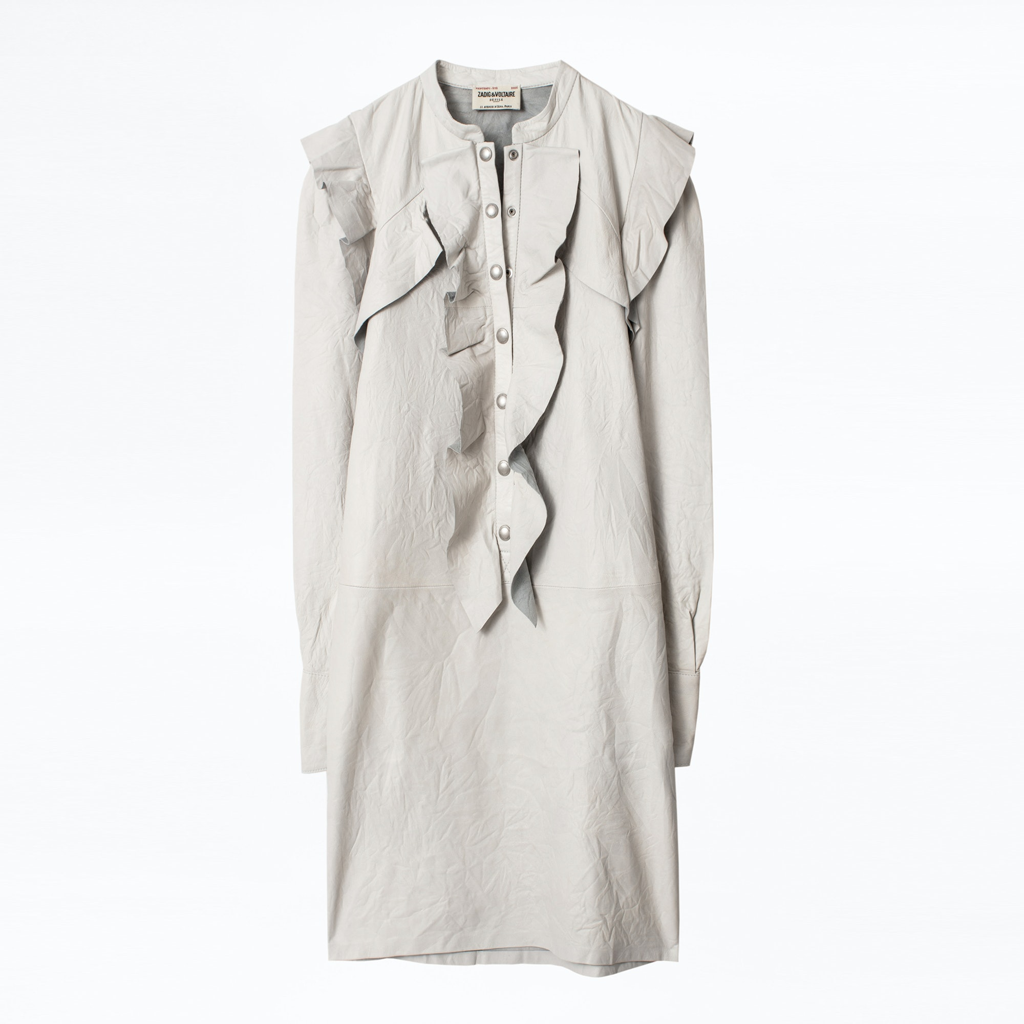Robe Ruskies Cuir Froisse - Taille 34  - Zadig & Voltaire - Modalova