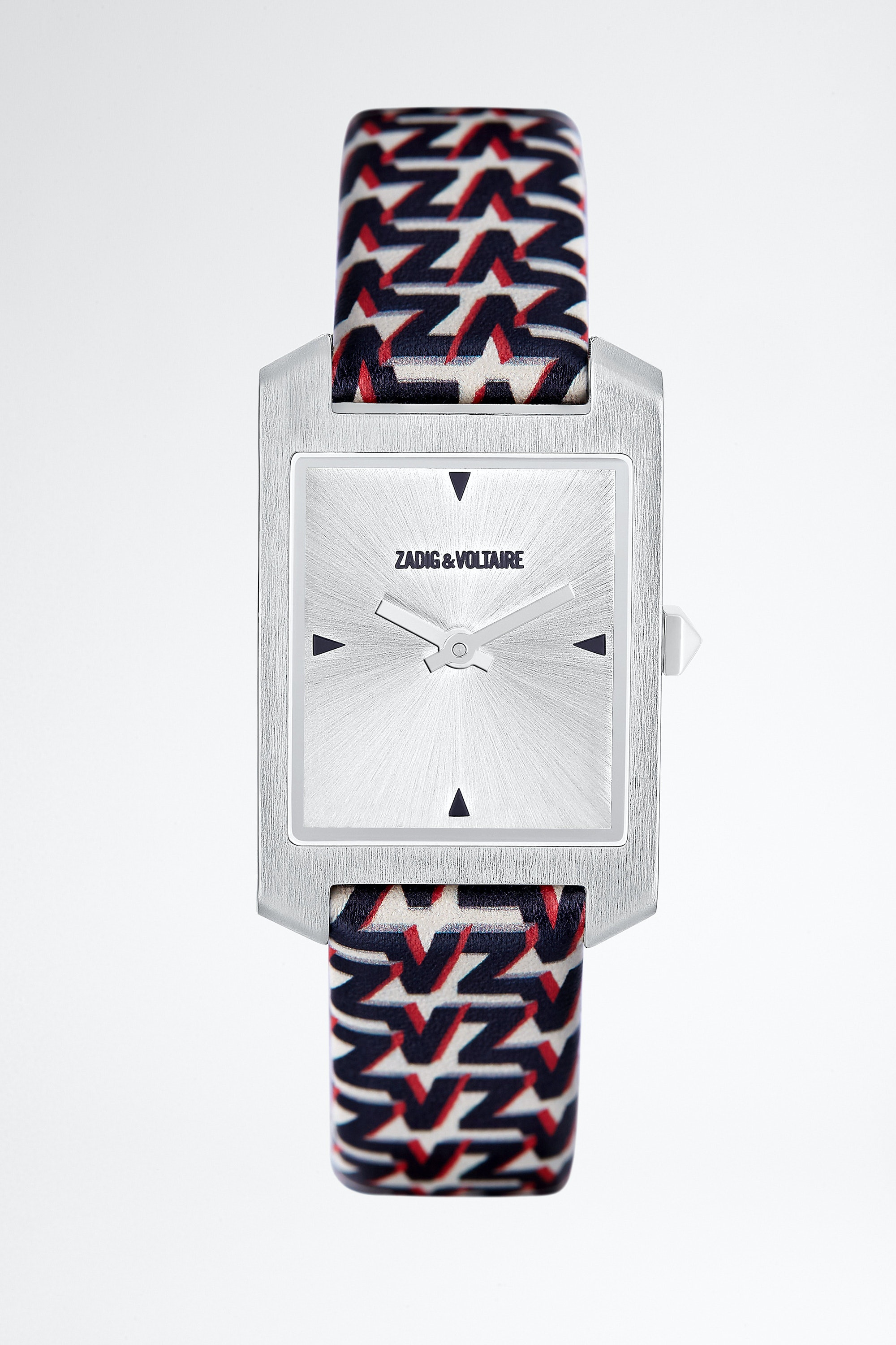 ZV Pattern Printed Strap Timeline Watch