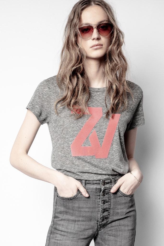 T-shirt Walk Chiné Overdyed - Zadig & Voltaire - Modalova