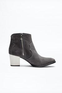 Molly Suede Heel Boots