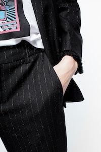 Posh Stripe Franges Pants