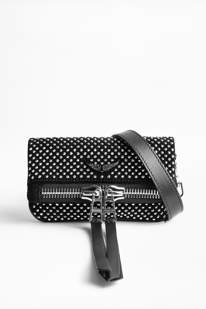 Rock Nano Zip Suede Clutch