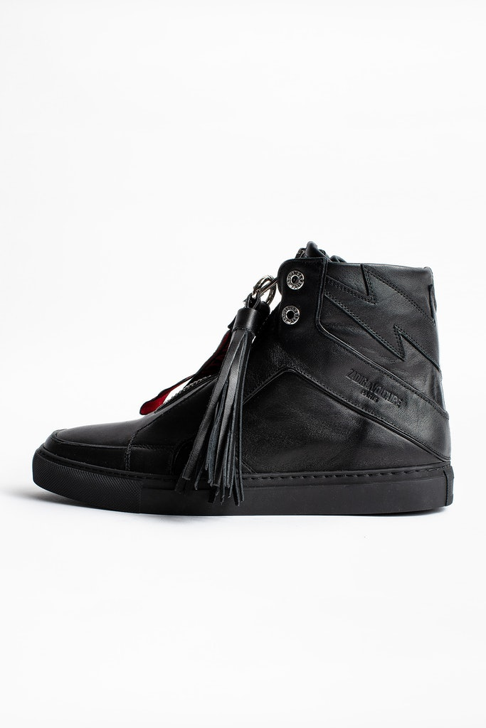 ZV1747 High Flash Zip Sneakers
