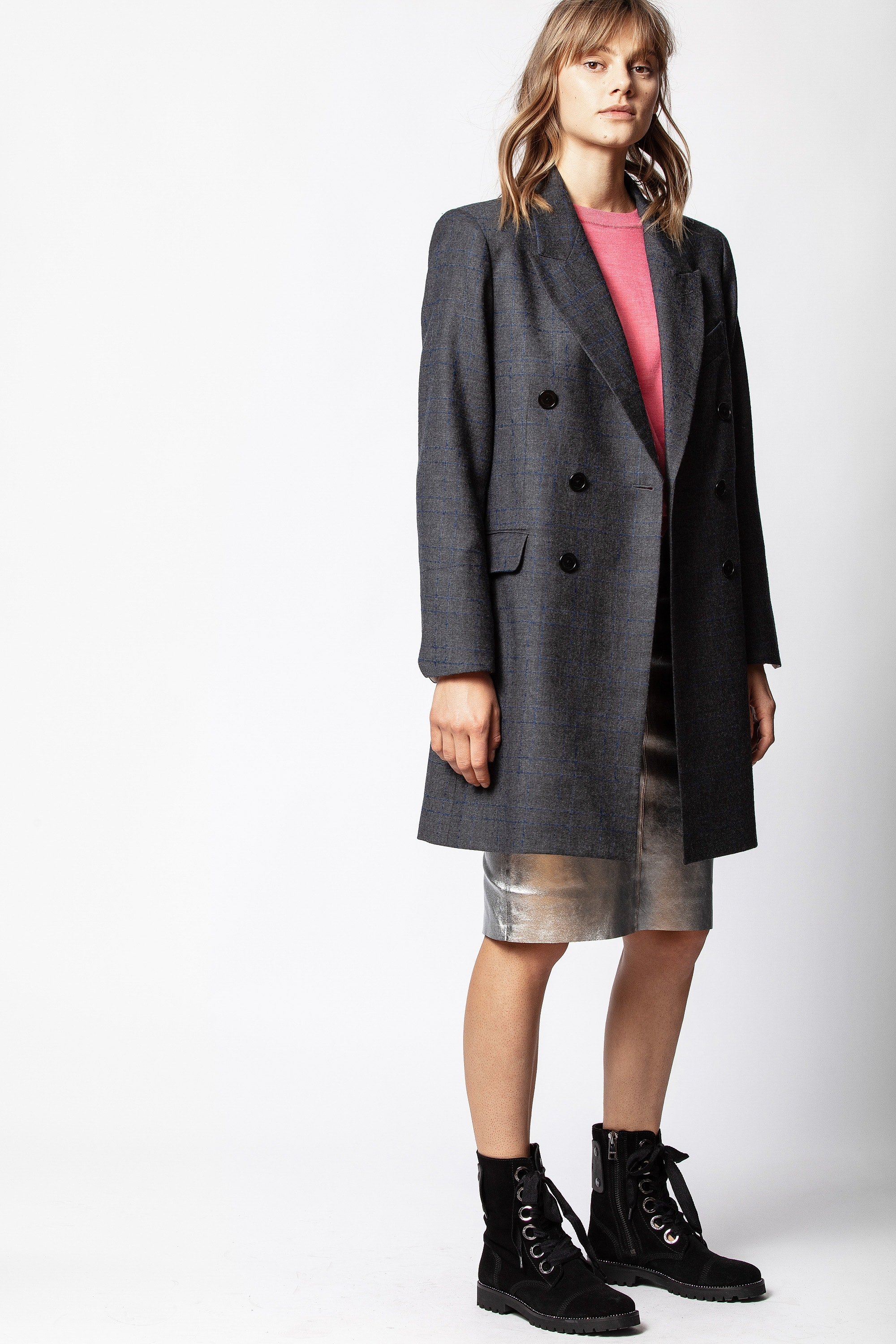 Mina Carreaux Coat