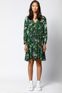 Resist Print Season Dress