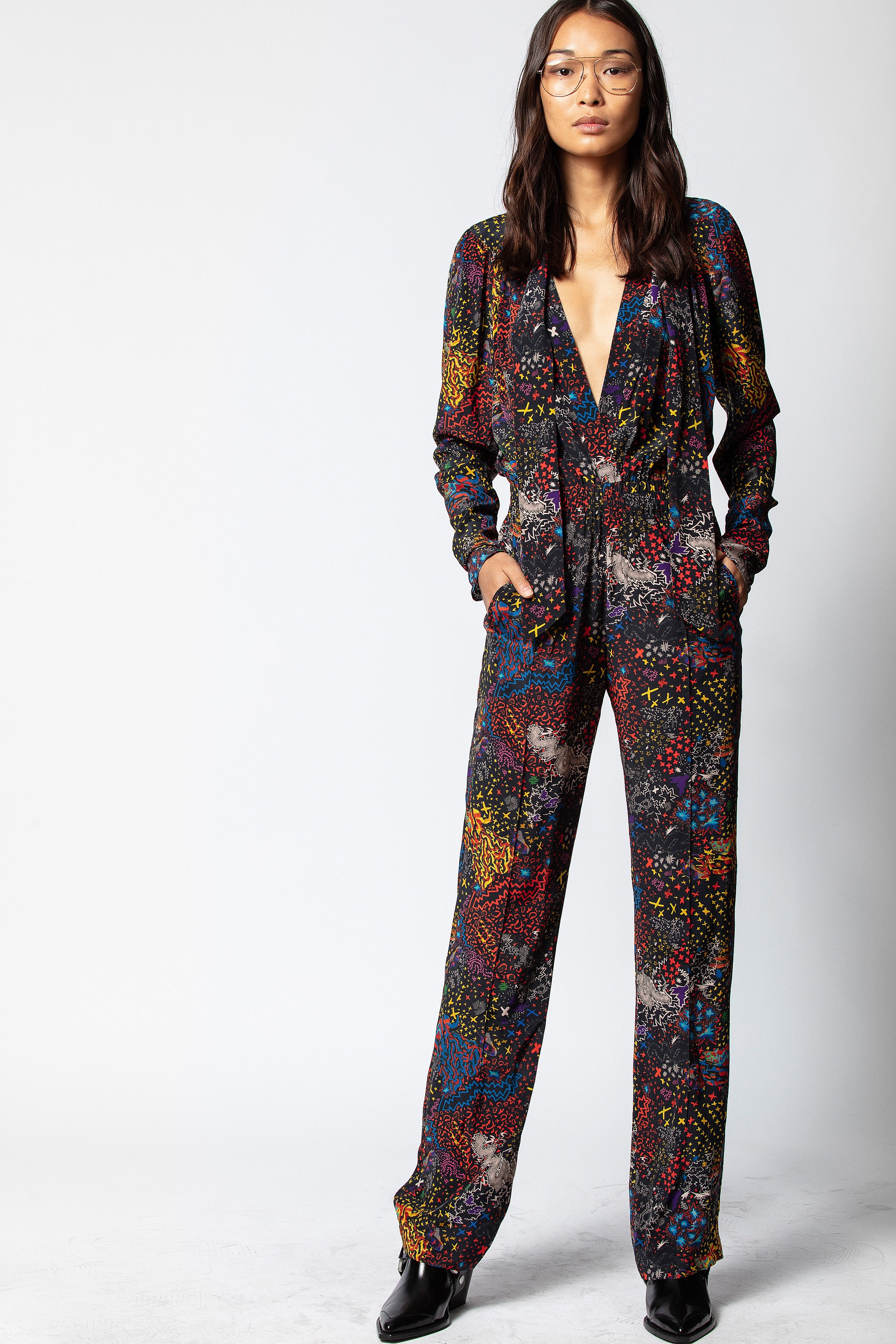 Captain Print Jumpsuit