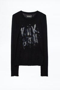 Pull Source Strass Cachemire