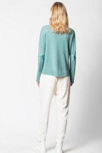 Cici Cachemire Patch Sweater