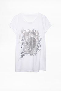 T-shirt Skinny Strass Skull