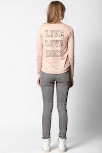 Live Love Rock Tunisian Collar T-shirt