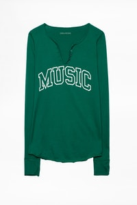 Music Tunisian Collar T-shirt