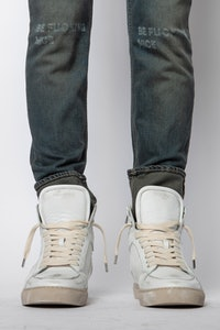 ZV1747 High Flash Used Suede Sneakers