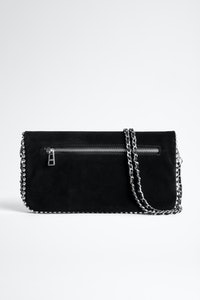 Rock Suede Studs Clutch