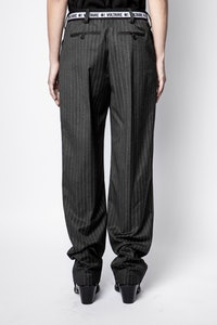 Pantalon Profil Pinstripe Strass