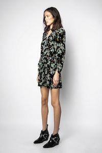 Reveal Velvet Blossom Dress