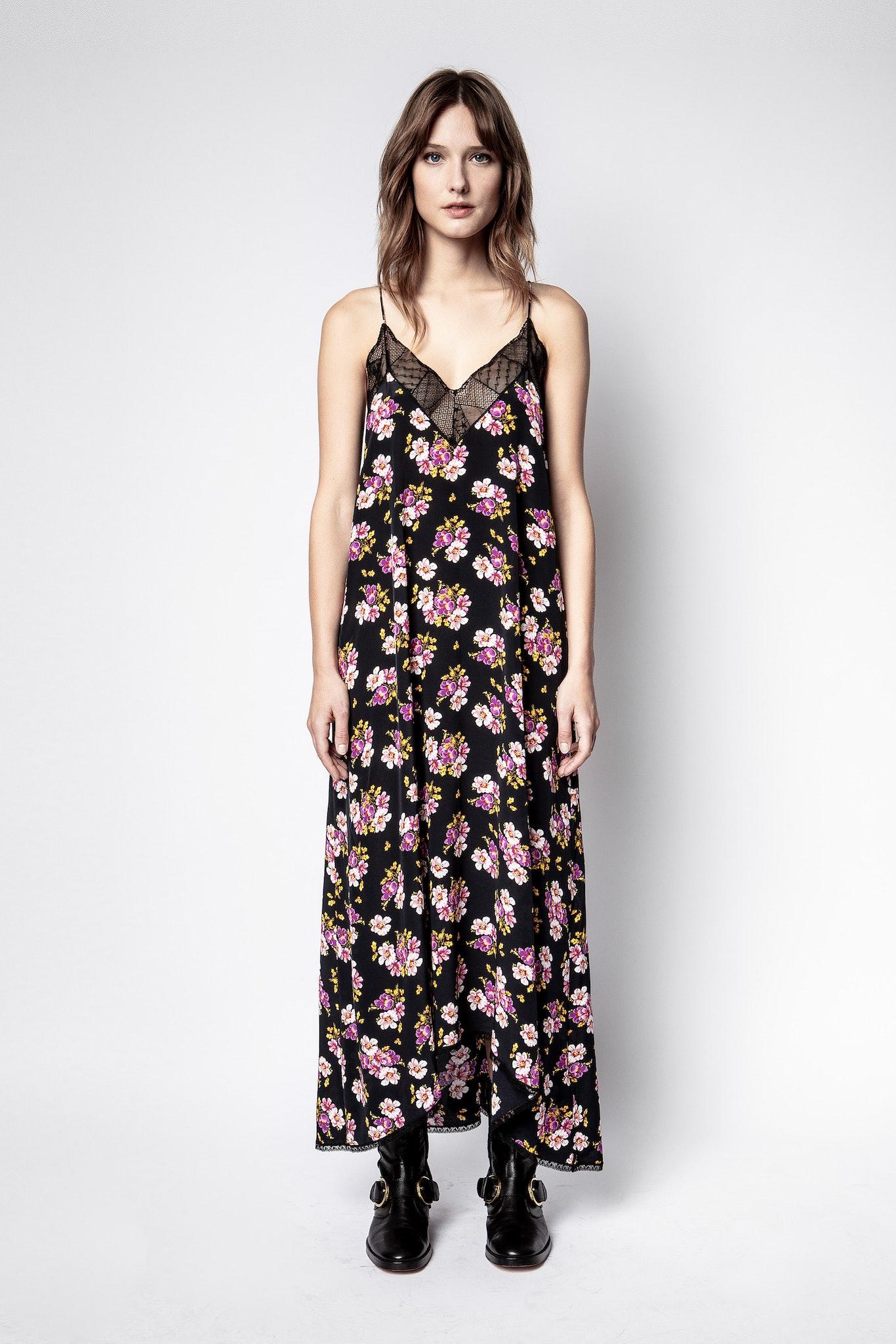 Risty Peonies Dress