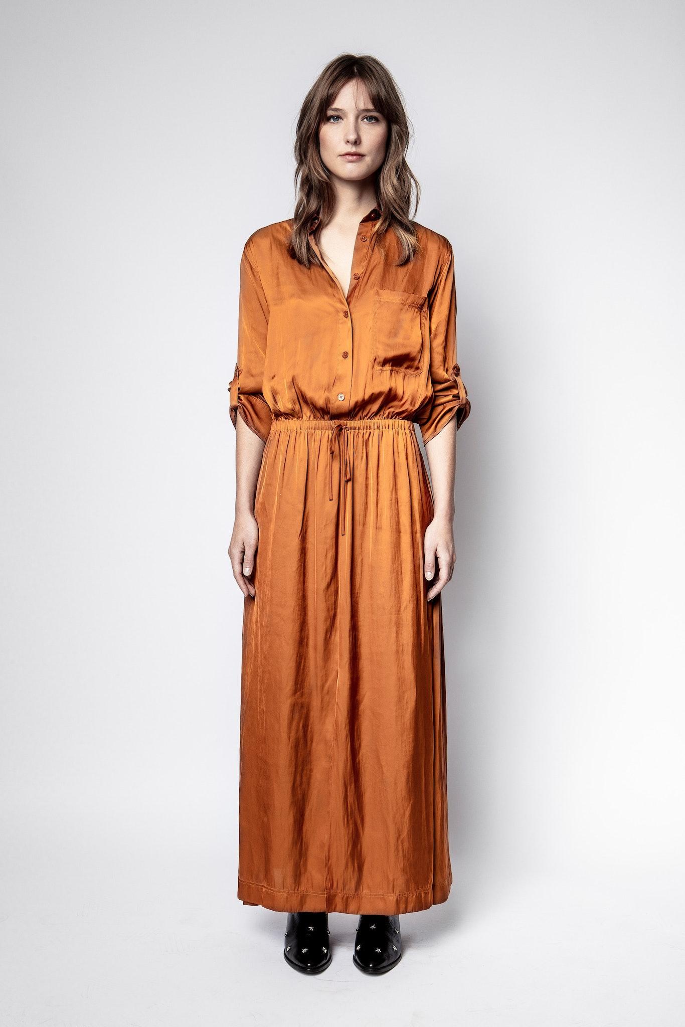 Radial Satin Dress