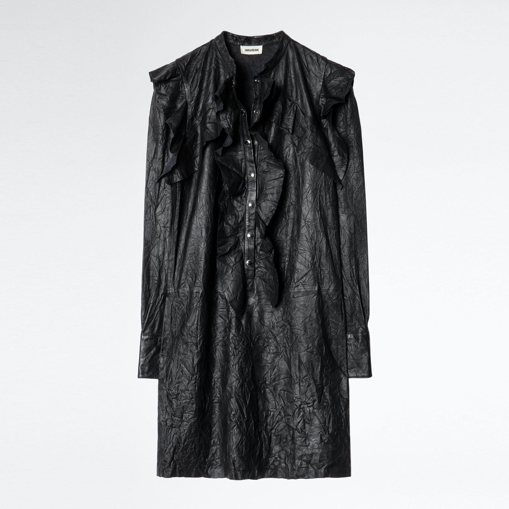 Robe Ruskies Cuir Froissé - Taille 34  - Zadig & Voltaire - Modalova
