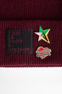 Aglae Pins Badge Beanie