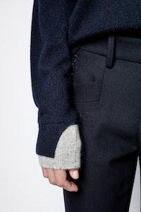 Gaby Leaf Skull Strass Cachemire Sweater
