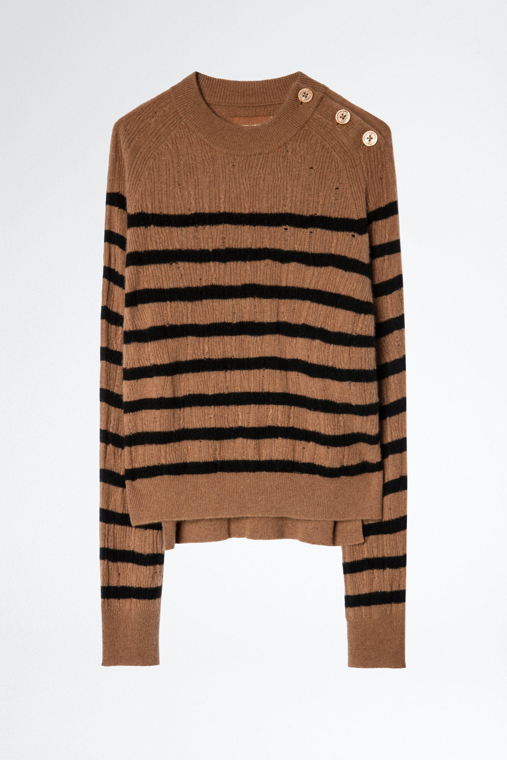 Lili Stripes Destroy Cachemire Sweater