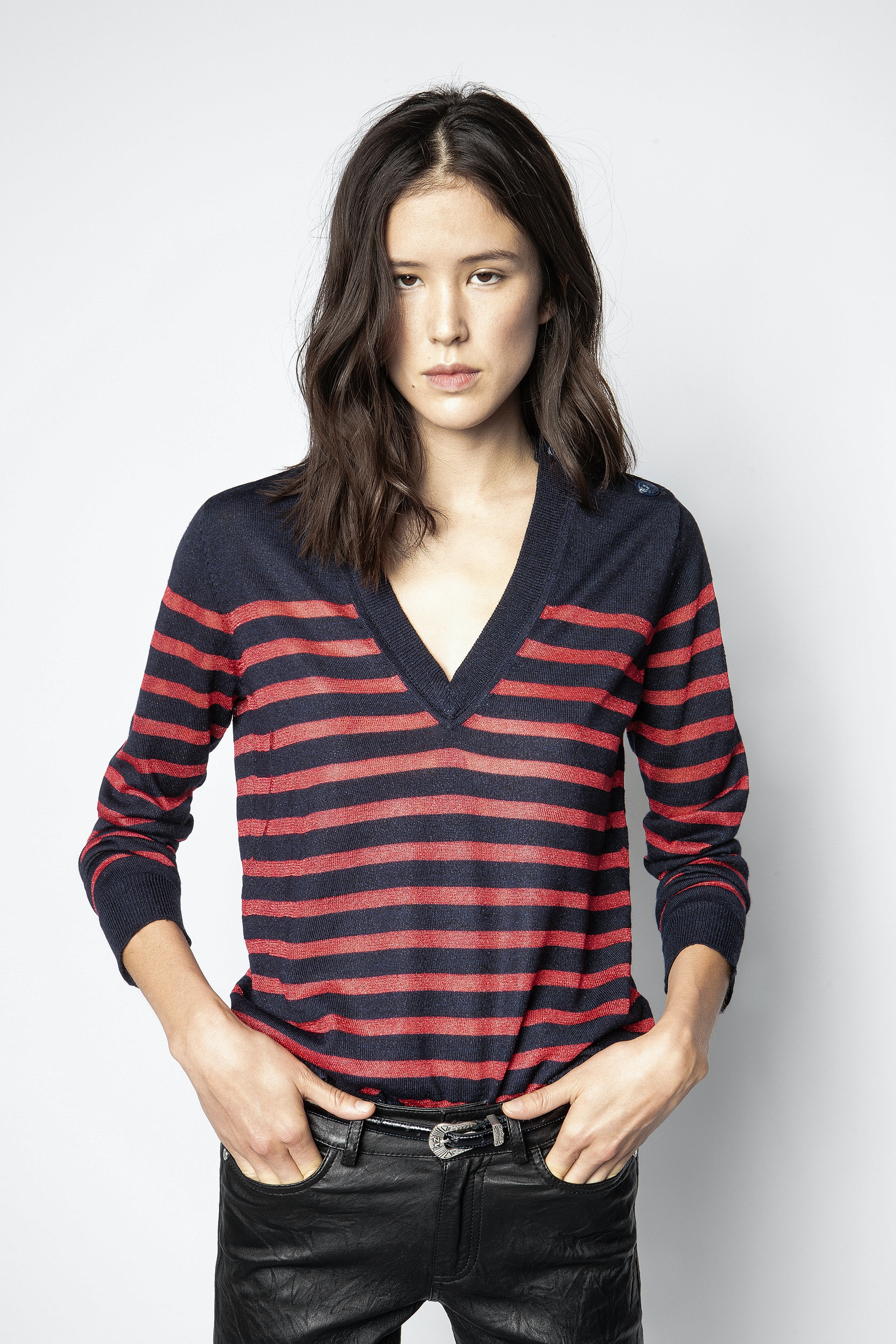Missia Stripes Lurex Sweater