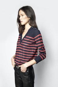 Missia Stripes Lurex Sweater