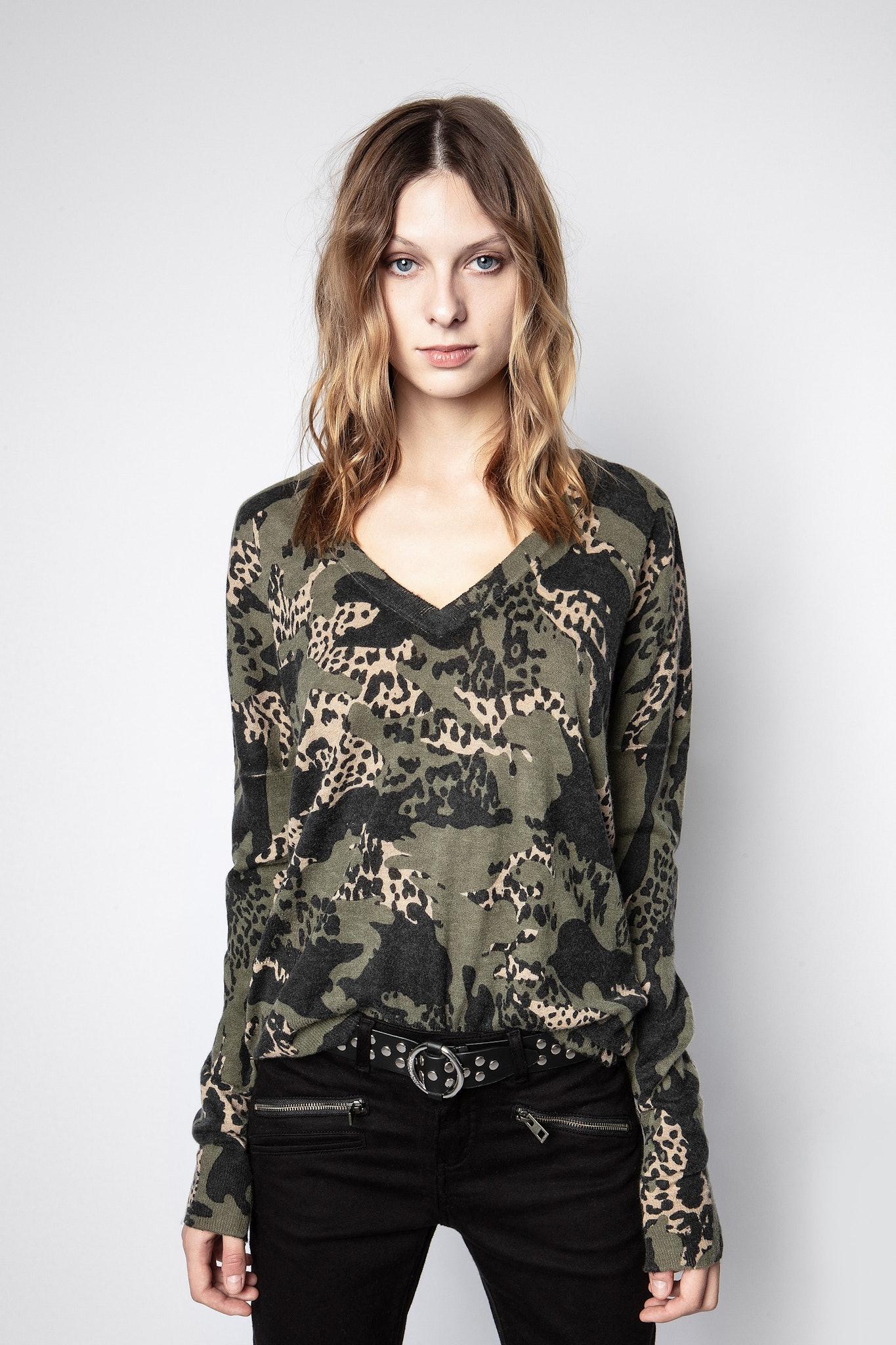 Brume Print Camou Cachemire Sweater