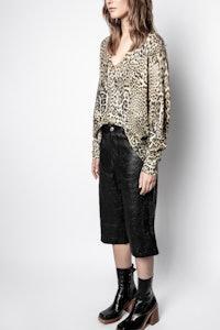 Pullover Rosy Leo Print Kaschmir