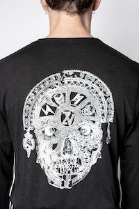 Henley-Shirt Monastir Peruvian Skull