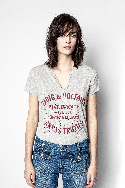 Blason Strass Tunisian Collar T-shirt