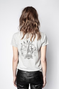 Paris Eiffel Henley T-shirt