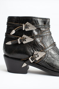Pilar Used Strass Ankle Boots