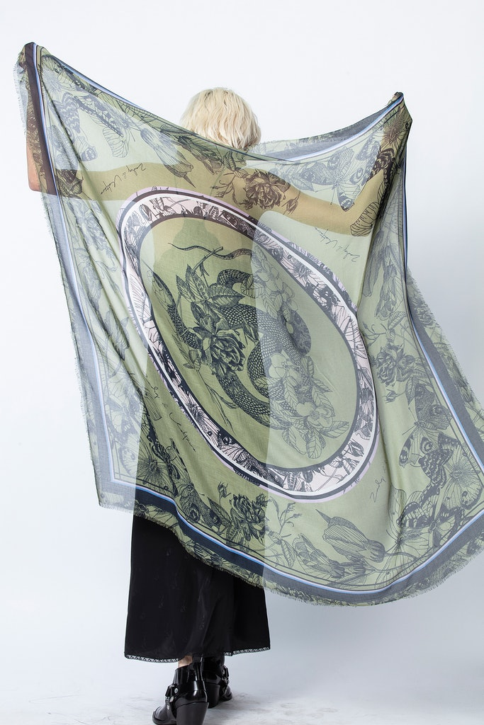 Kerry Flower Snake Scarf