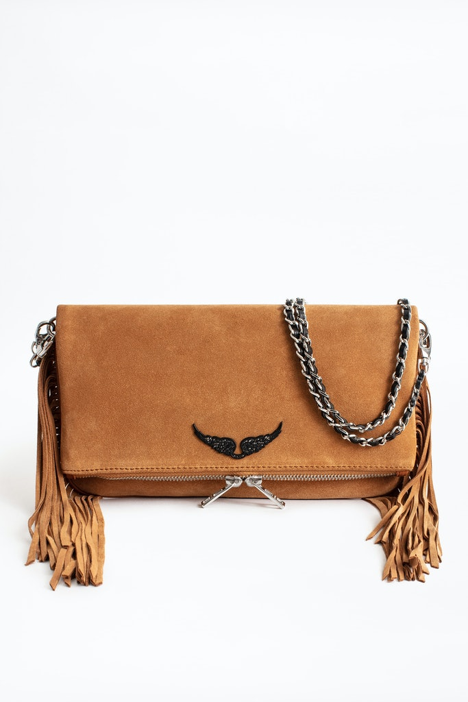 Rock Suede Fringes Clutch