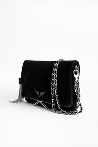 Clutch Rock Suede Strass