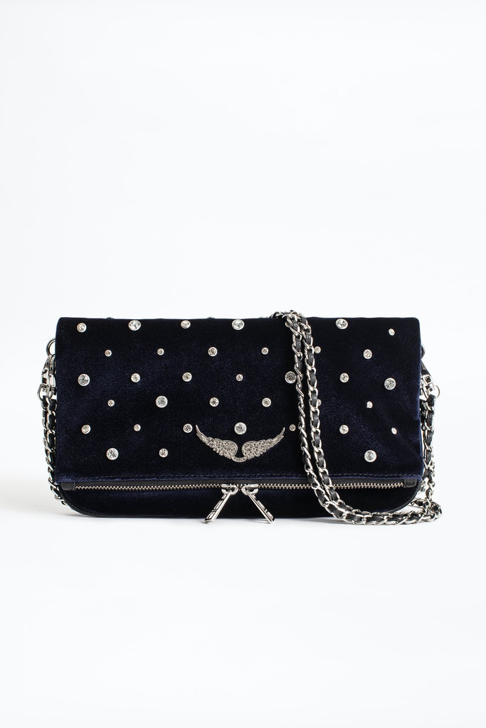 Rock Velvet Strass Clutch