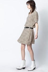 Russel Leo Print Dress