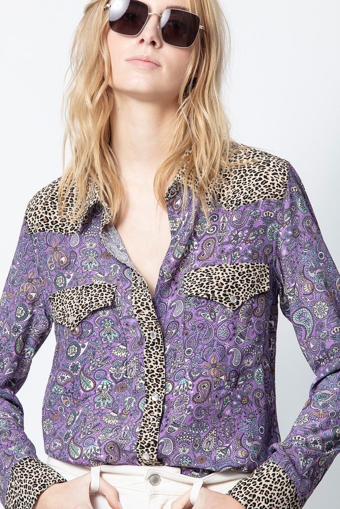 Thelma Mix Print Shirt