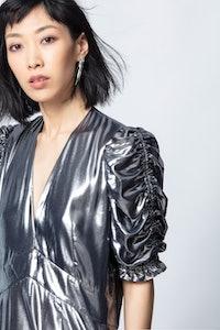Roya Silver Dress