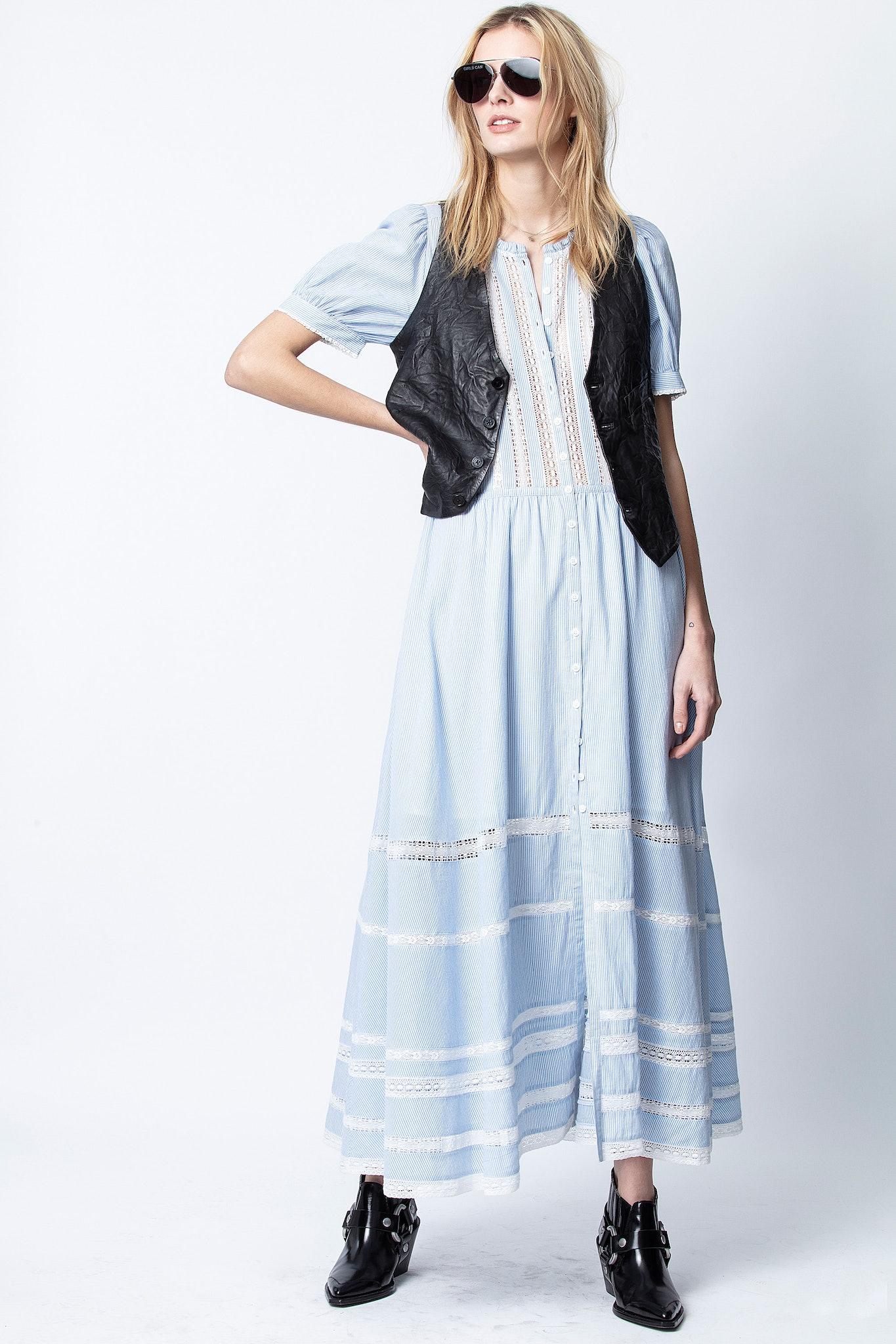 Vestido Regard de algodón de rayas