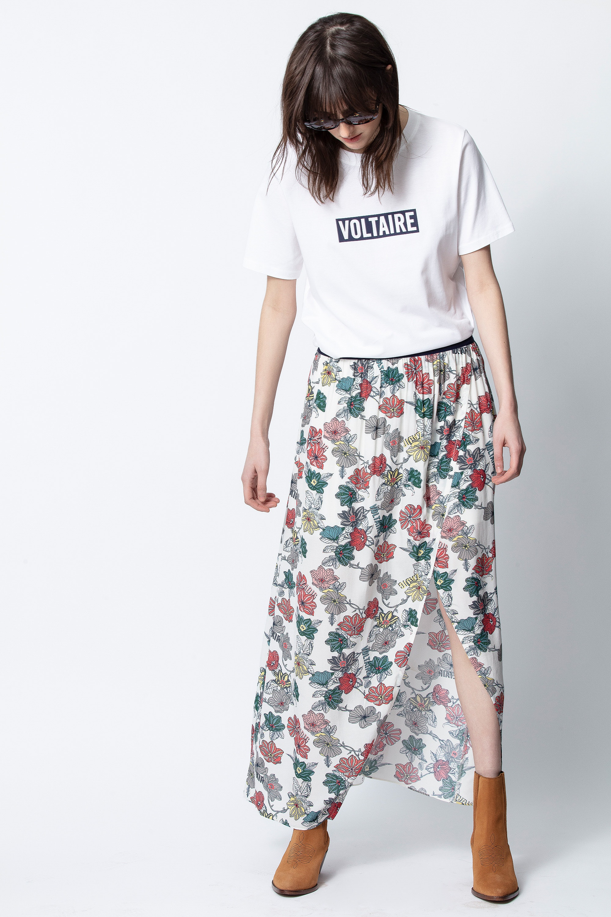 Josia Print Flower Skirt