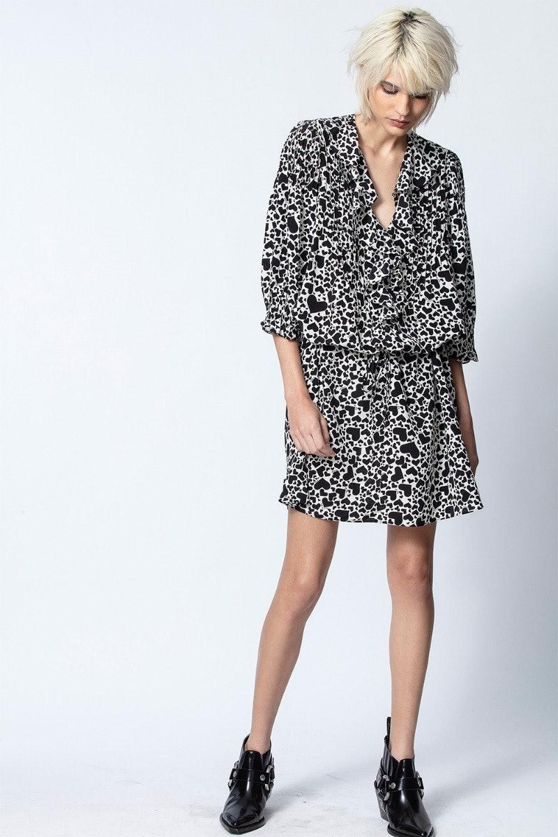 Roni Print Coeur Dress